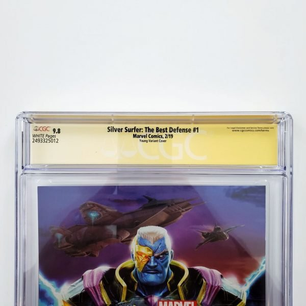 Silver Surfer: The Best Defense #1 CGC SS 9.8 Skottie Young Variant Back Label