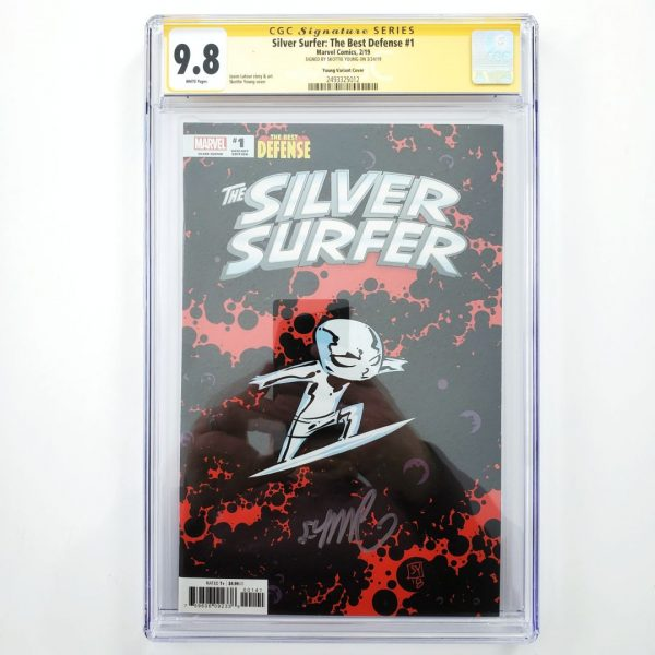 Silver Surfer: The Best Defense #1 CGC SS 9.8 Skottie Young Variant Front