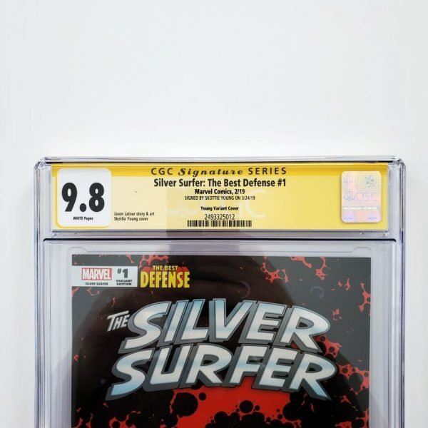 Silver Surfer: The Best Defense #1 CGC SS 9.8 Skottie Young Variant Front Label