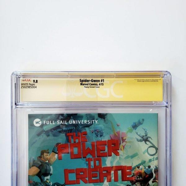 Spider-Gwen #1 CGC SS 9.8 NM/M Skottie Young Variant Back Label