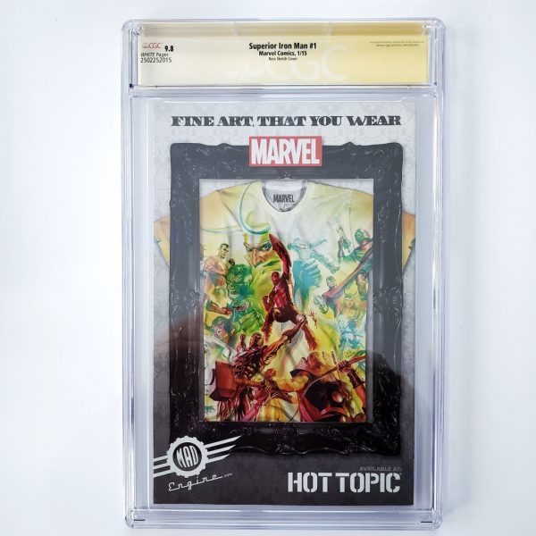 Superior Iron Man #1 CGC SS 9.8 NM/M Ross Sketch Cover Back