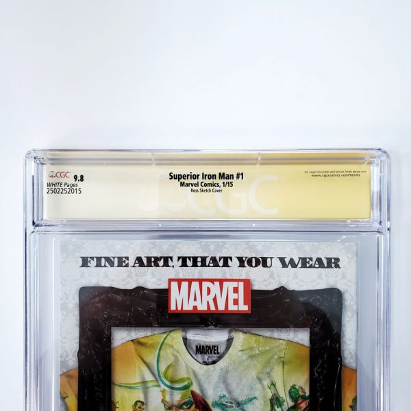 Superior Iron Man #1 CGC SS 9.8 NM/M Ross Sketch Cover Back Label