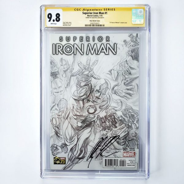 Superior Iron Man #1 CGC SS 9.8 NM/M Ross Sketch Cover Front