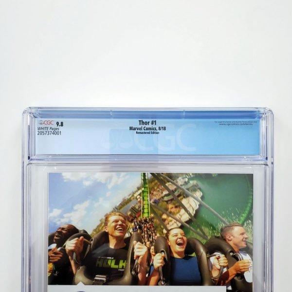 Thor (2018) #1 CGC 9.8 NM/M Remastered Variant Back Label