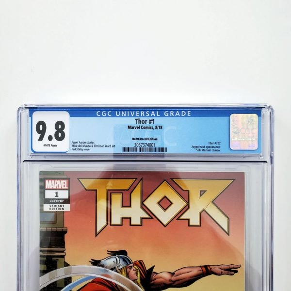 Thor (2018) #1 CGC 9.8 NM/M Remastered Variant Front Label