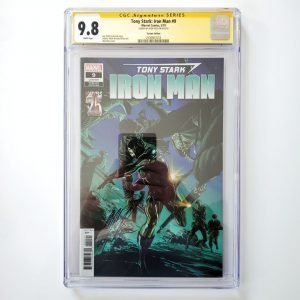 Tony Stark: Iron Man #1 CGC SS 9.8 NM/M Ross Variant Front