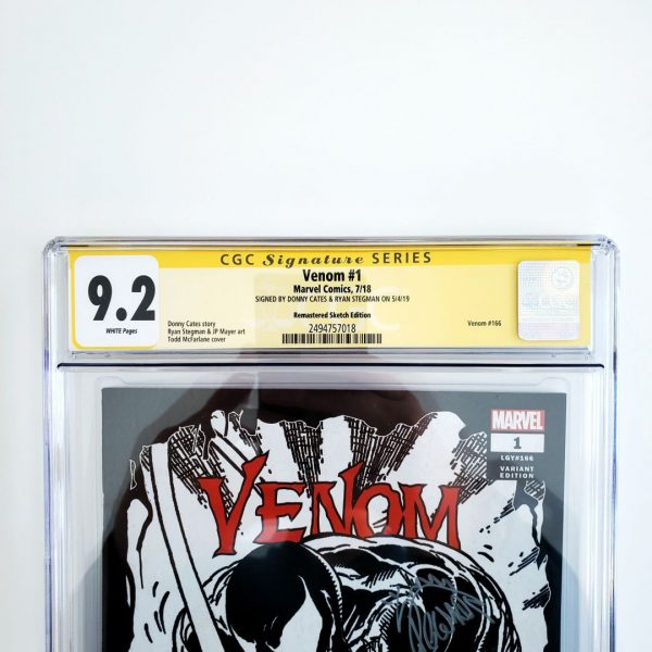 Venom (2018) #1 CGC SS 9.2 NM- Remastered Sketch Variant Front Label