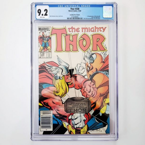 Thor #338 CGC 9.2 NM- Canadian Price Variant Front