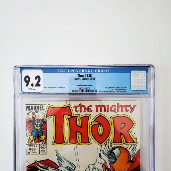 Thor #338 CGC 9.2 NM- Canadian Price Variant Front Label