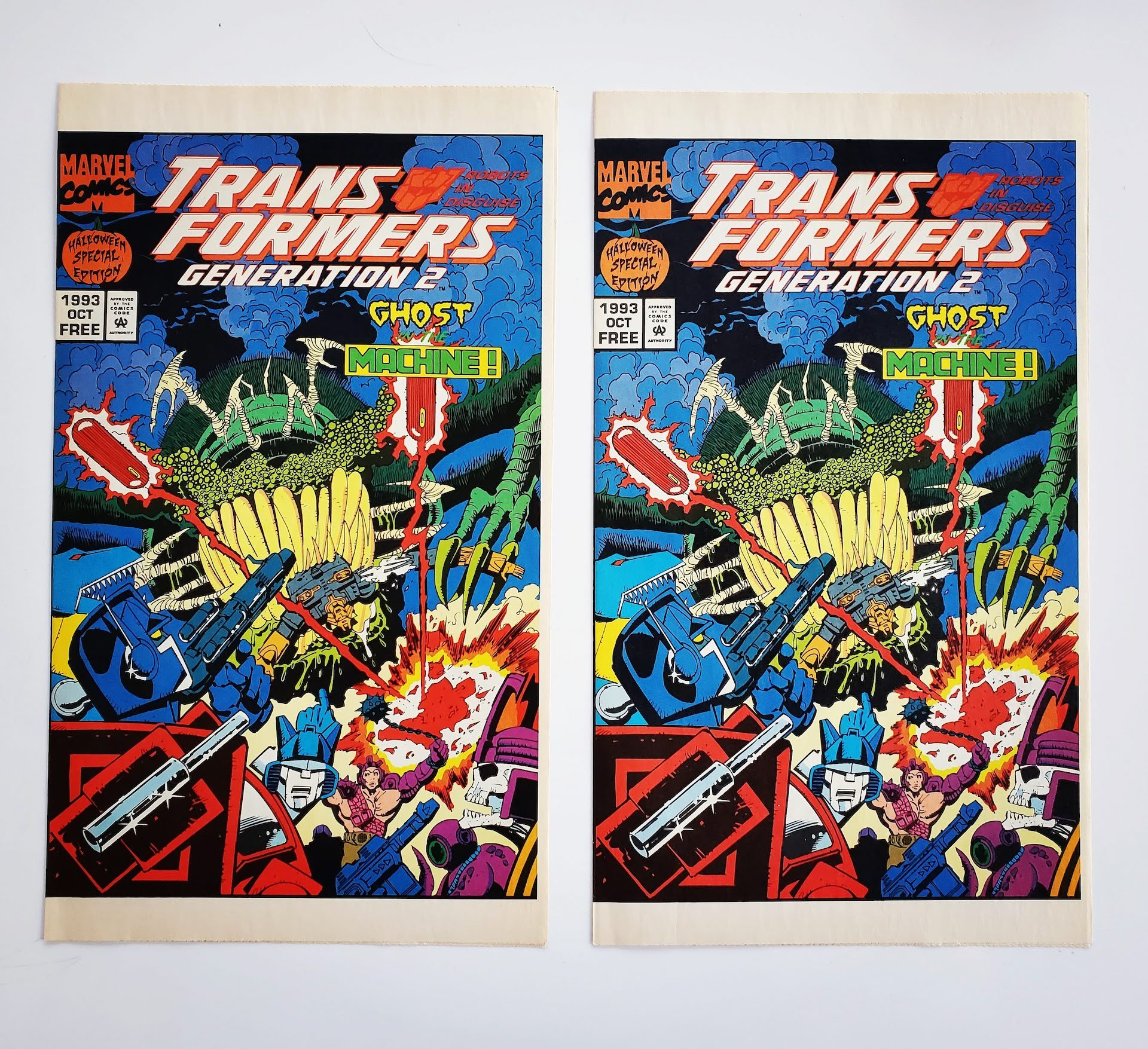 Transformers Generation 2 Halloween Special Edition Comic Book