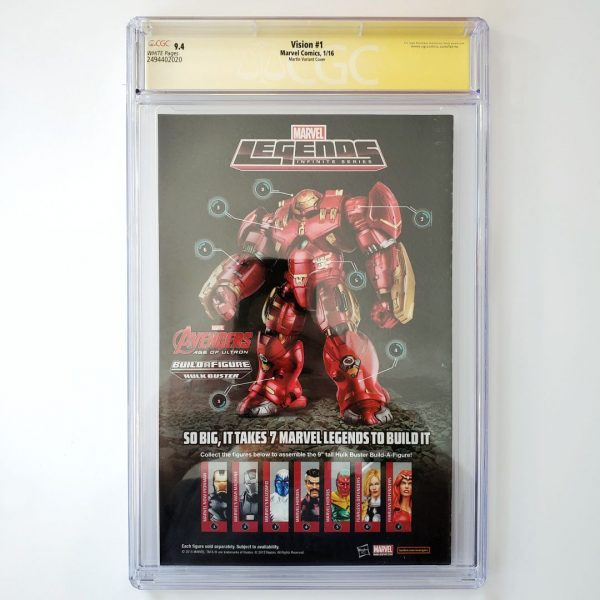 Vision #1 CGC SS 9.4 NM Martin Variant Back