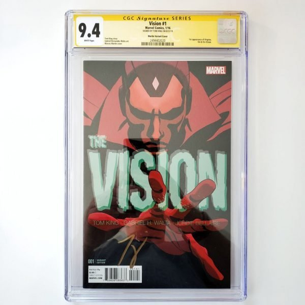 Vision #1 CGC SS 9.4 NM Martin Variant Front
