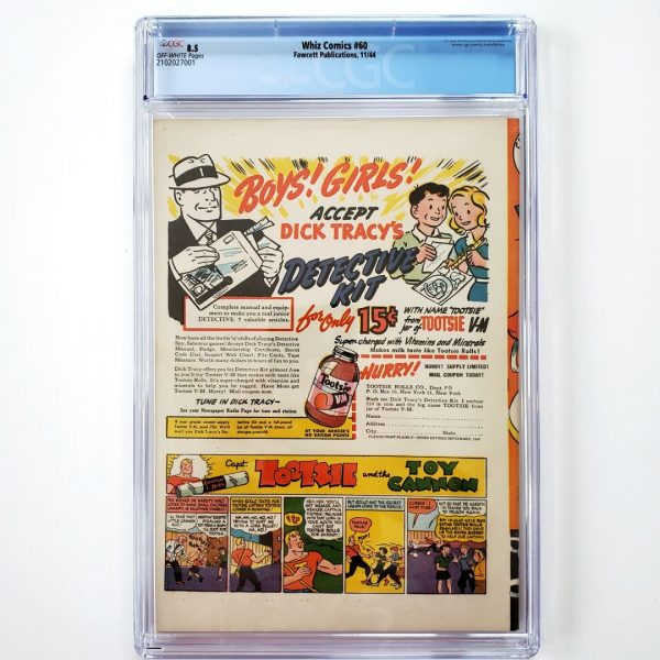 Whiz Comics #60 CGC 8.5 VF+ Back