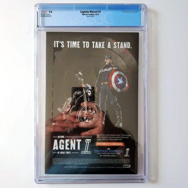 Captain Marvel (2014) #2 CGC 9.6 NM+ Variant Back