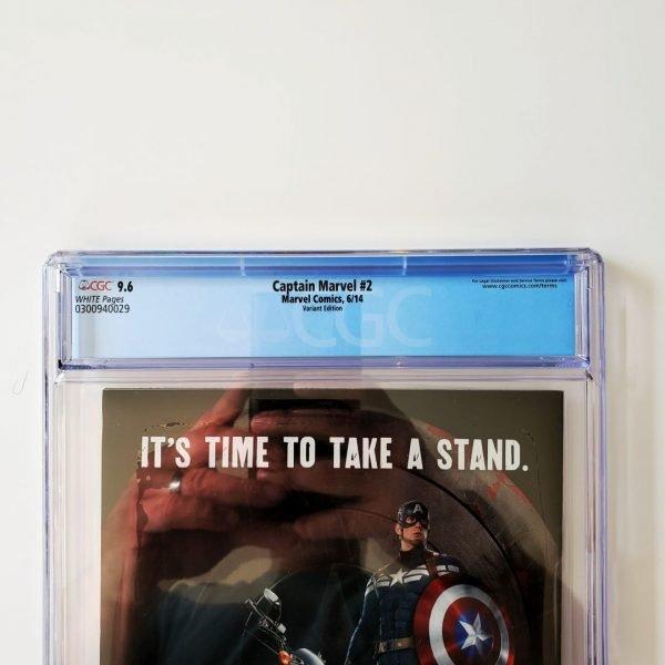 Captain Marvel (2014) #2 CGC 9.6 NM+ Variant Back Label