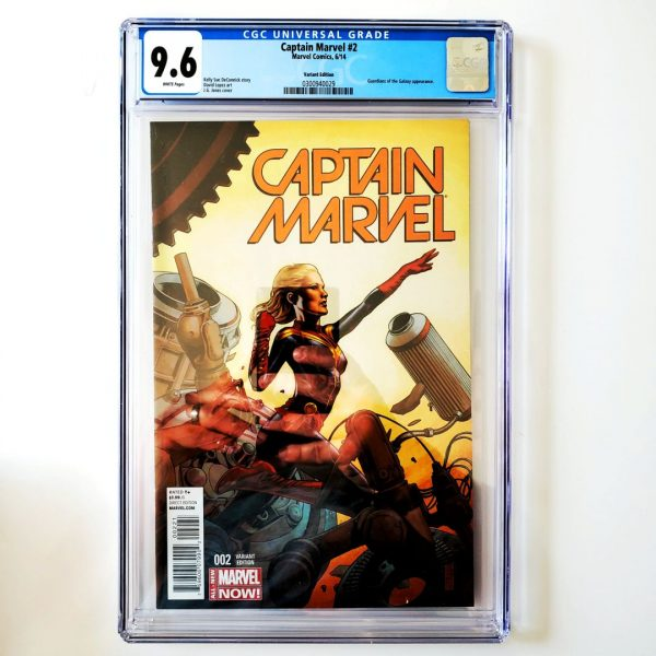 Captain Marvel (2014) #2 CGC 9.6 NM+ Variant Front
