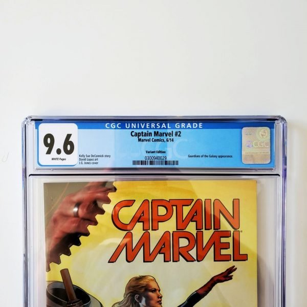 Captain Marvel (2014) #2 CGC 9.6 NM+ Variant Front Label