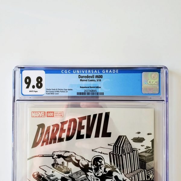 Daredevil #600 CGC 9.8 NM/M Remastered Sketch Variant Front Label