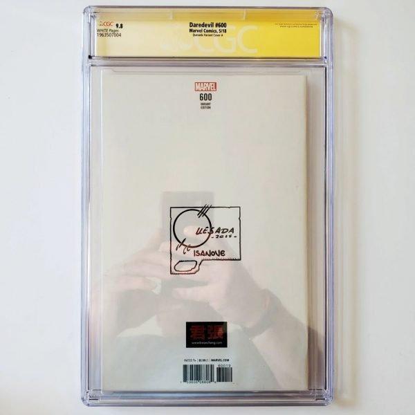 Daredevil #600 CGC SS 9.8 NM/M Quesada Variant A Back