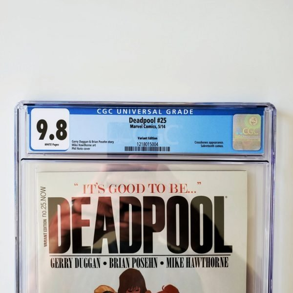 Deadpool #25 CGC 9.8 NM/M Variant Front Label