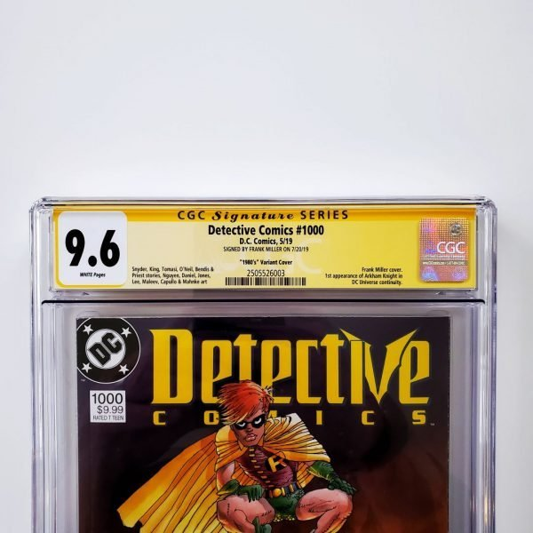 Detective Comics #1000 CGC 9.6 1980's Variant Signed by Frank Miller Front Label