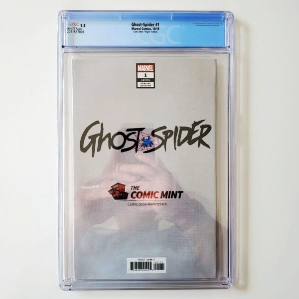 Ghost Spider #1 CGC 9.8 NM/M Comic Mint Virgin Variant Back