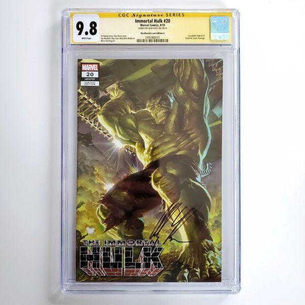 Immortal Hulk #20 CGC SS 9.8 NM/M AlexRossArt.com Variant A Front