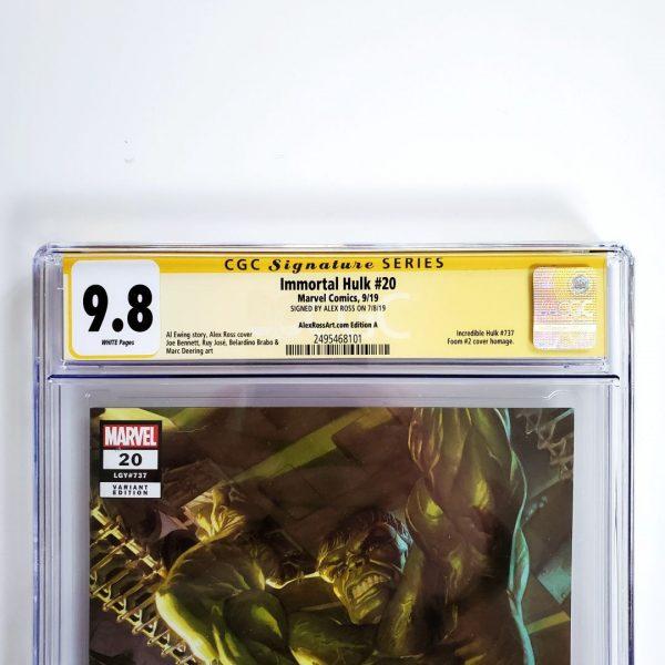 Immortal Hulk #20 CGC SS 9.8 NM/M AlexRossArt.com Variant A Front Label