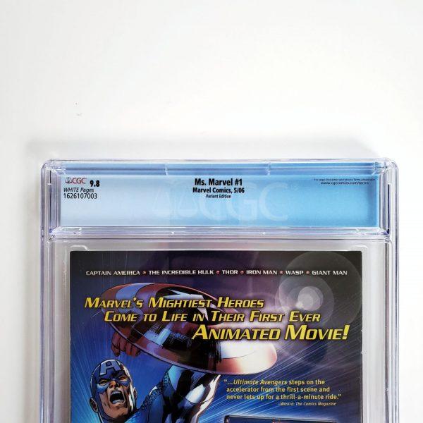 Ms. Marvel (2006) #1 CGC 9.8 NM/M Turner Variant Back Label