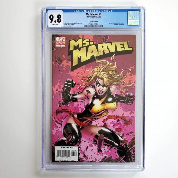 Ms. Marvel (2006) #1 CGC 9.8 NM/M Turner Variant Front