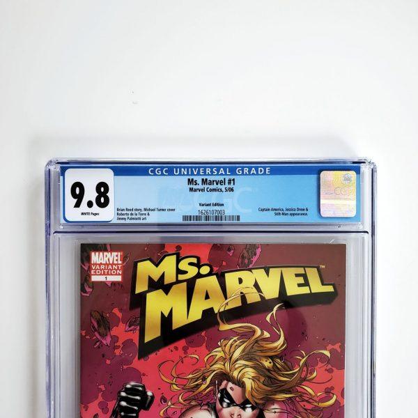Ms. Marvel (2006) #1 CGC 9.8 NM/M Turner Variant Front Label