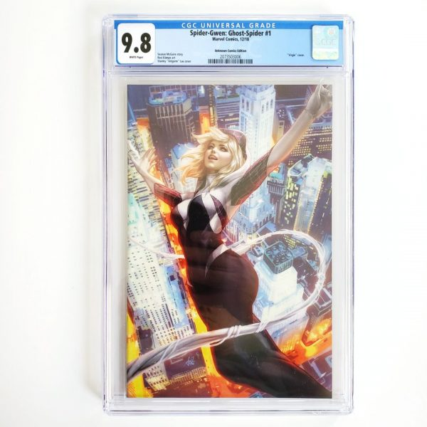Spider-Gwen: Ghost Spider #1 CGC 9.8 NM/M Unknown Comics Variant Front