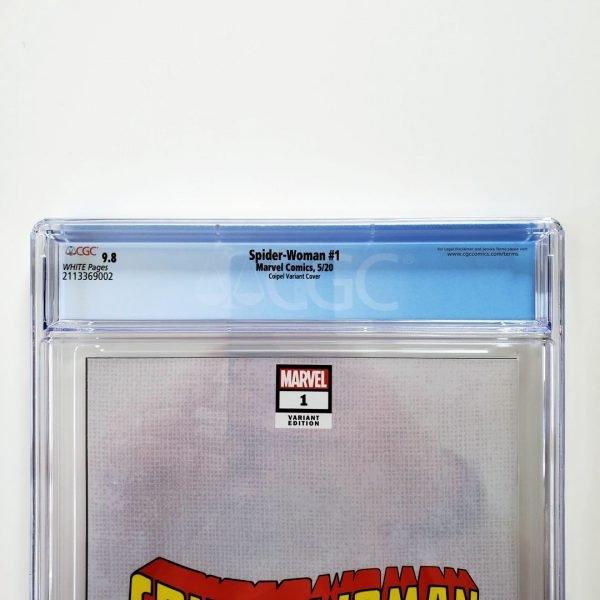 Spider-Woman (2020) #1 CGC 9.8 NM/M ComicTom101 Variant Back Label