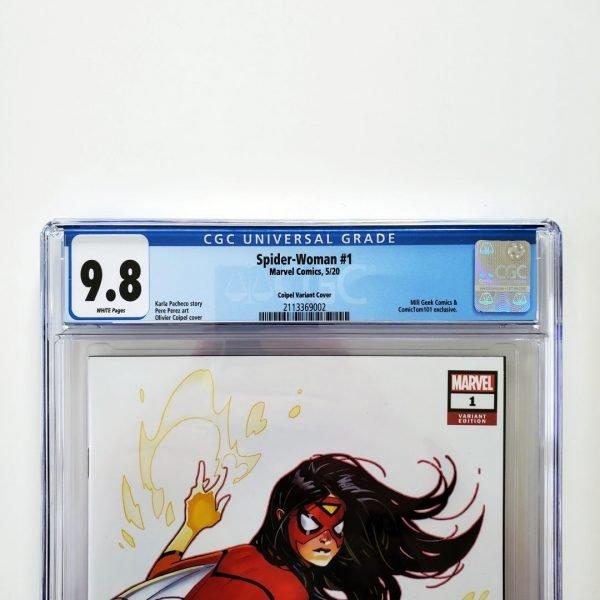 Spider-Woman (2020) #1 CGC 9.8 NM/M ComicTom101 Variant Front Label