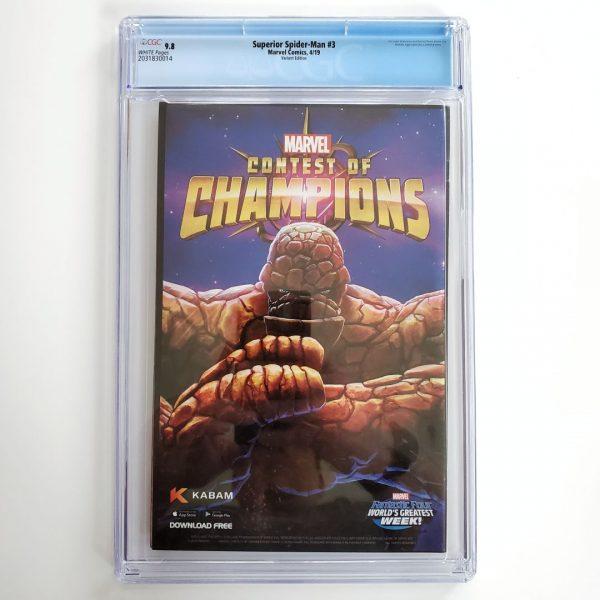 Superior Spider-Man #3 CGC 9.8 NM/M Captain Marvel Variant Back