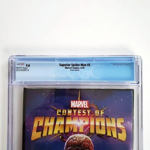 Superior Spider-Man #3 CGC 9.8 NM/M Captain Marvel Variant Back Label