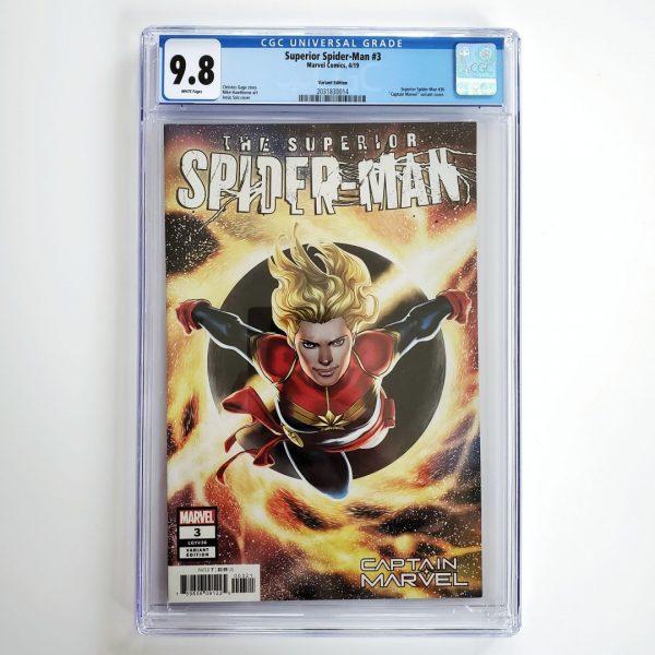Superior Spider-Man #3 CGC 9.8 NM/M Captain Marvel Variant Front