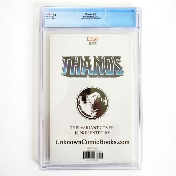 Thanos #15 CGC 9.6 NM+ 4th Print Unknown Comics Variant Back