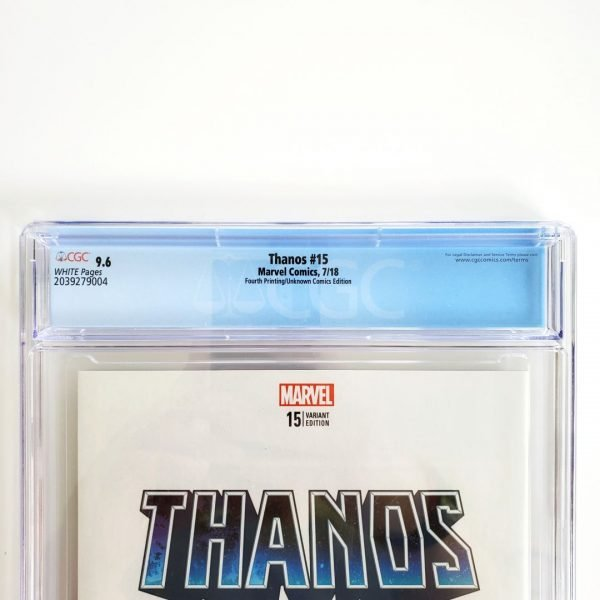 Thanos #15 CGC 9.6 NM+ 4th Print Unknown Comics Variant Back Label