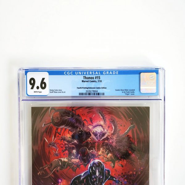 Thanos #15 CGC 9.6 NM+ 4th Print Unknown Comics Variant Front Label