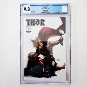 Thor (2020) #1 CGC 9.8 NM/M ComicTom101 Exclusive Variant Front