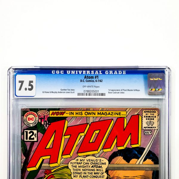Atom #1 CGC 7.5 VF- Front Label