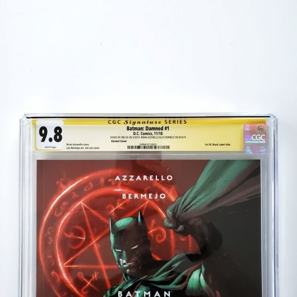 Batman: Damned #1 CGC SS 9.8 NM/M Lee Variant Front Label