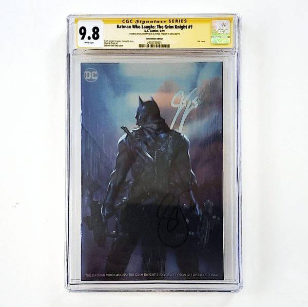 Batman Who Laughs: The Grim Knight #1 CGC SS 9.8 NM/M Convention Foil Variant Front