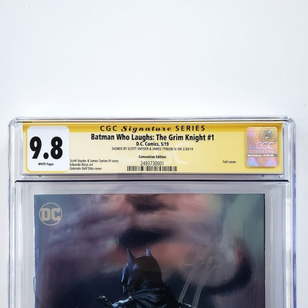 Batman Who Laughs: The Grim Knight #1 CGC SS 9.8 NM/M Convention Foil Variant Front Label