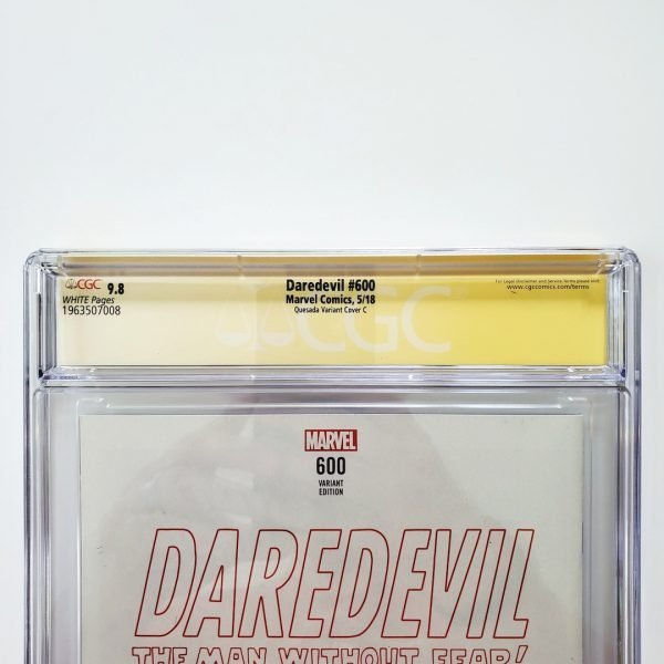 Daredevil #600 CGC SS 9.8 NM/M Quesada Variant C Back Label