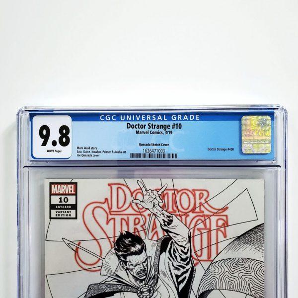 Doctor Strange #10 CGC 9.8 NM/M Quesada Sketch Variant Front Label