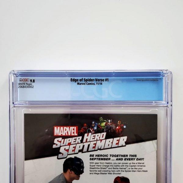 Edge of Spider-Verse #1 CGC 9.8 NM/M Back Label