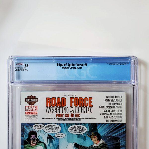 Edge of Spider-Verse #5 CGC 9.8 NM/M Back Label