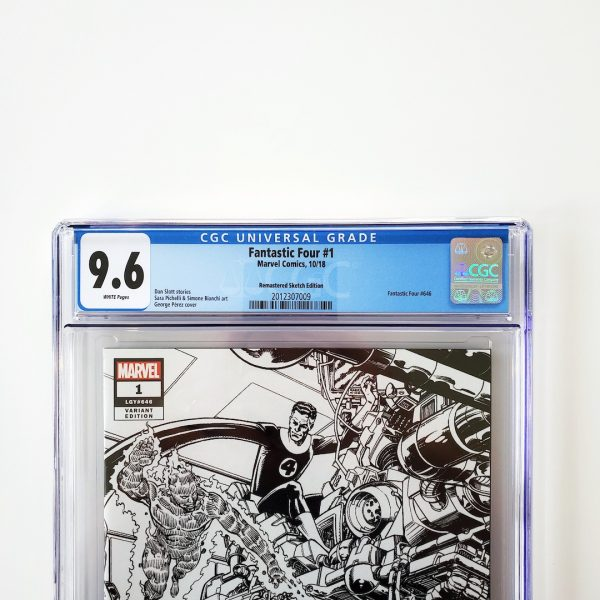 Fantastic Four #1 CGC 9.6 NM+ Remastered Sketch Variant Front Label